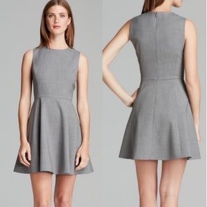 Theory | Gray Tillora Betoken A Line Mini Dress